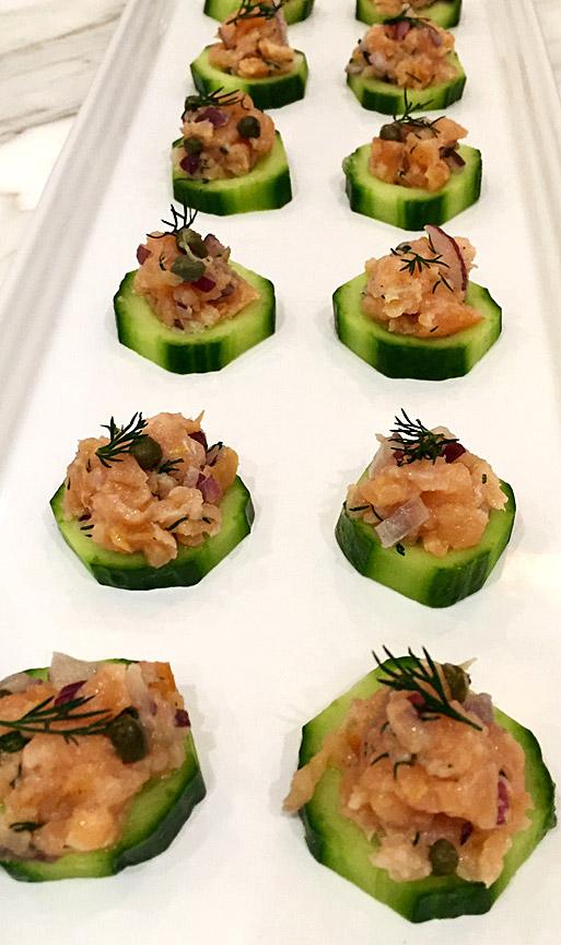 salmon cucumber