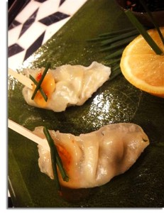 Potsticker appetizer - Anne Apra Events
