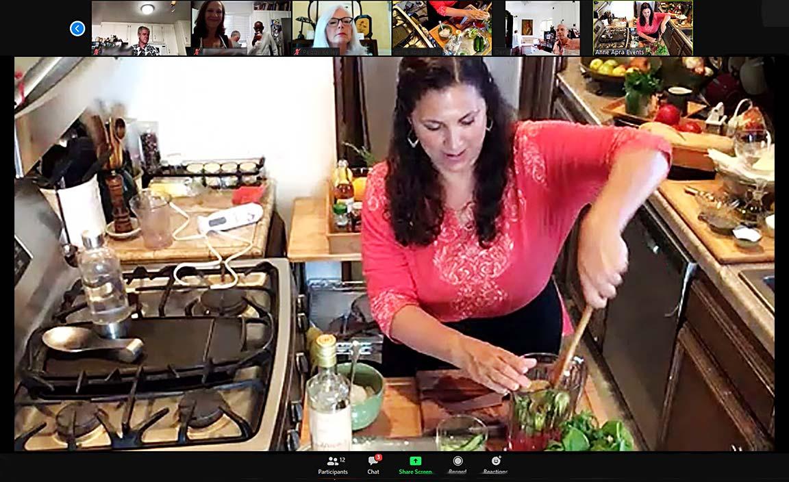 Virtual Cooking Class Cucumber Watermelon Spritzer